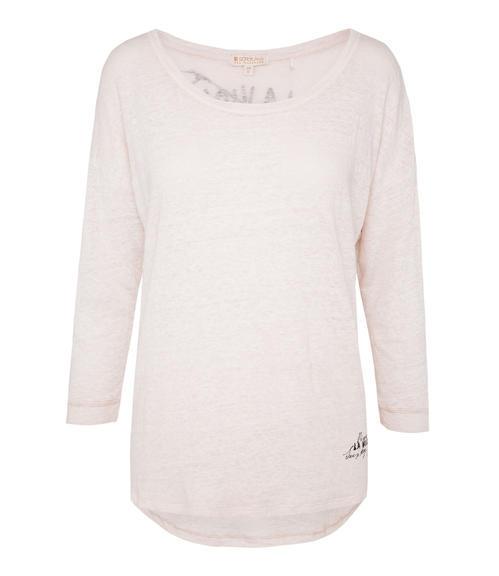 Vzdušné světle růžové tričko s 3/4 rukávem XXL - 3