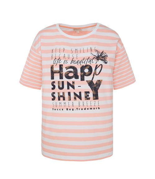 Růžové tričko happy sunshine|M - 3