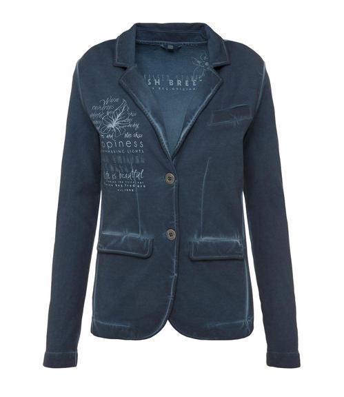 Tmavě modré sako s potiskem|XL - 3