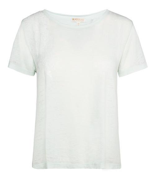 Světle zelené průhledné tričko|S - 3