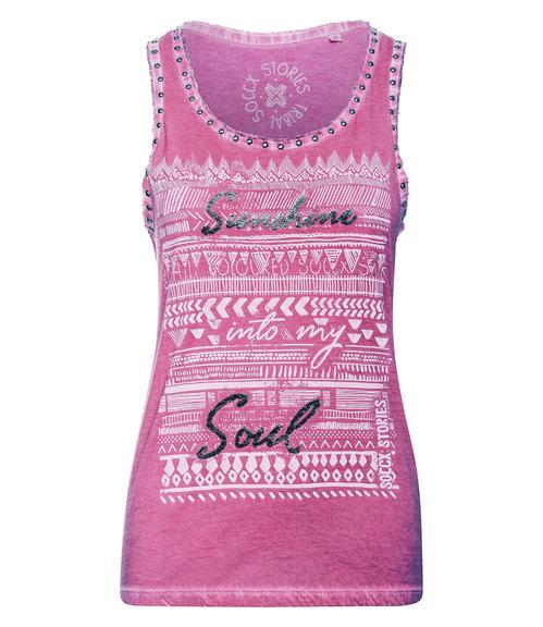 Top STO-1903-3560 tribal pink XS - 3