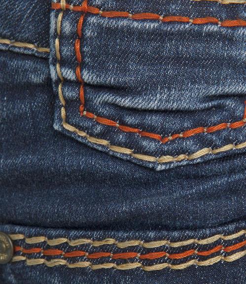 tmavě modré strečové džíny|27 - 3