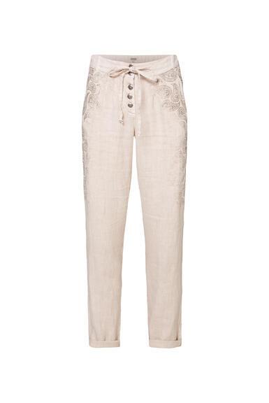 Plátěné kalhoty STO-2004-1853 desert beige/spicy orange|S - 3