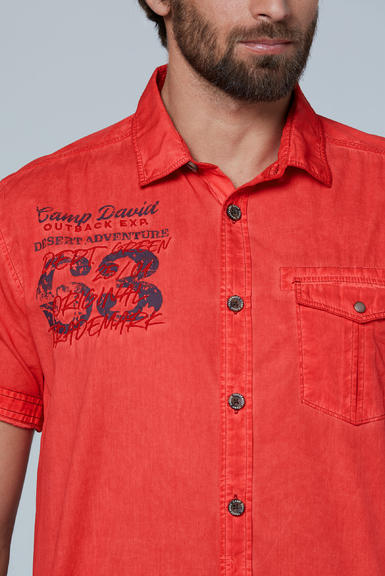 Košile CCG-2003-5713 red orange|M - 4