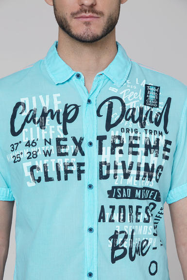 Košile CCB-2004-5677 fresh aqua|S - 4