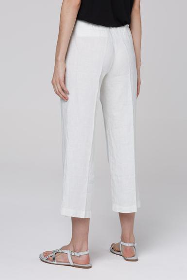 Lněné kalhoty SCU-2000-1389 Cotton White|S - 4