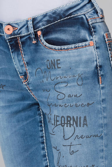 Džínové 3/4 kalhoty SDU-2000-1870 medium blue|29 - 4