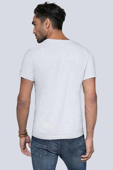 tričko ccu-1900-3953 white melange S - 4