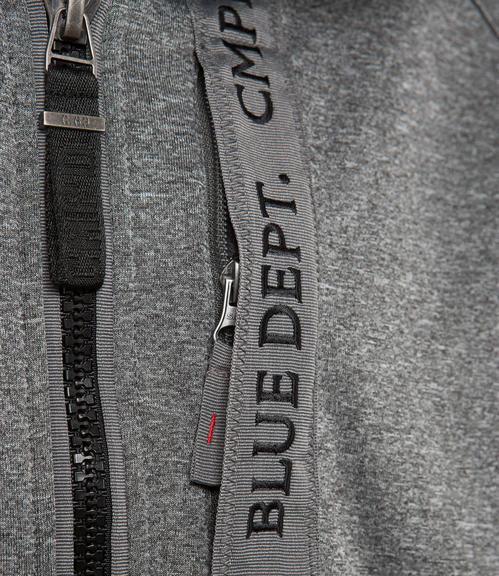 Antracitově šedá softshellová bunda s prošíváním|M - 4
