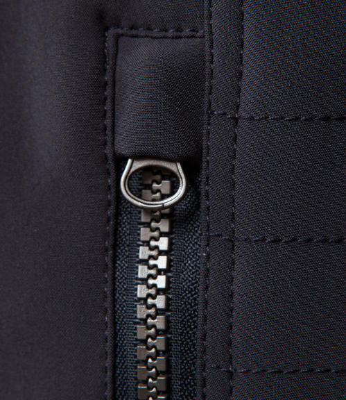 Tmavě modrá sofshellová bunda na zip|M/L - 4