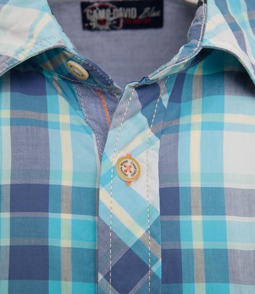 košile chec CCB-1804-5419 old aqua|L - 4