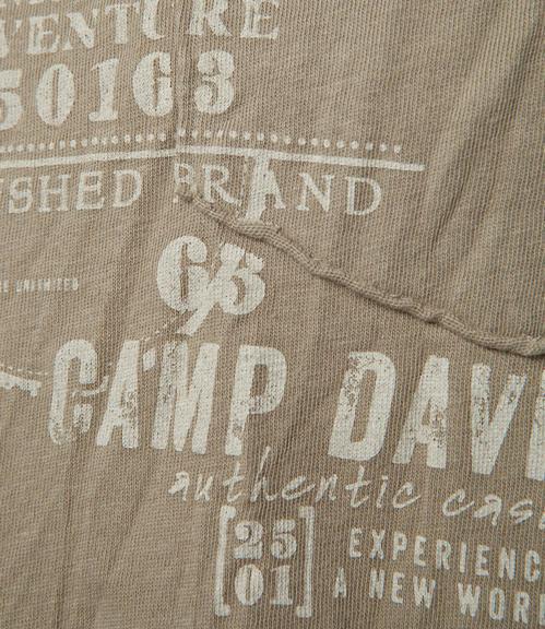 Khaki tričko s náprsní kapsičkou S - 4