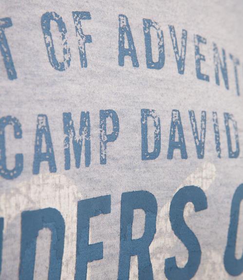 světle modré tričko s potiskem|S - 4
