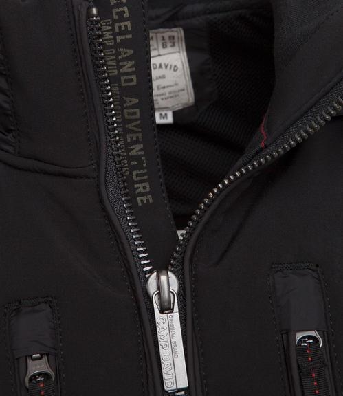 černá softshellová bunda|M - 4