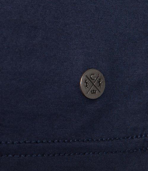Tmavě modré tričko s dlouhým rukávem a logem|S - 4