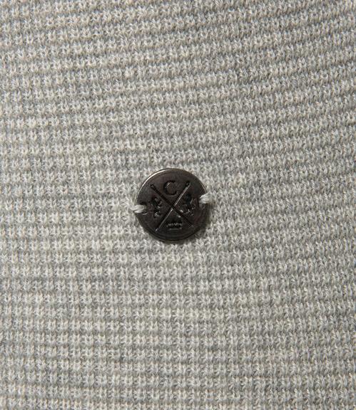 Světle šedý pletený svetr|XL - 4
