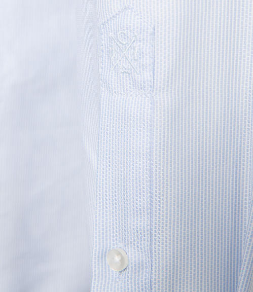 Světle modrá košile s bílým vzorem|45 - 4