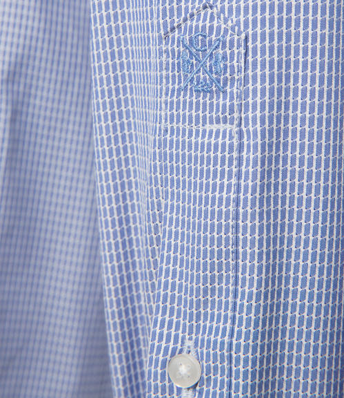 Modrá košile s tkanou strukturou|41 - 4