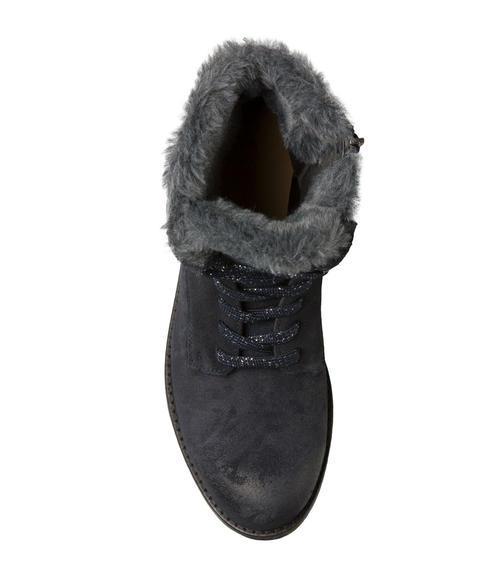 Semišové boty SCU-1755-8946 dusty black|38 - 4