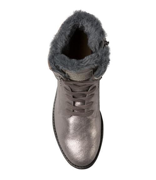 Semišové boty SCU-1755-8946 silver grey|36 - 4