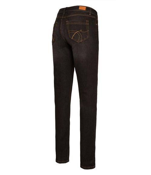 Tmavě šedé strečové džínové kalhoty|30 - 4