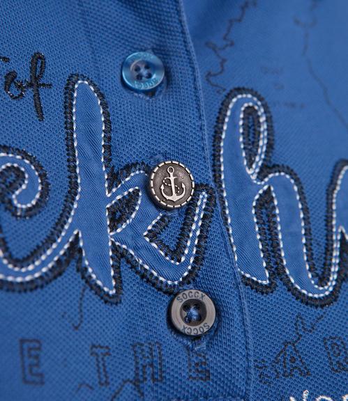 Sportovní modré polo tričko|S - 4