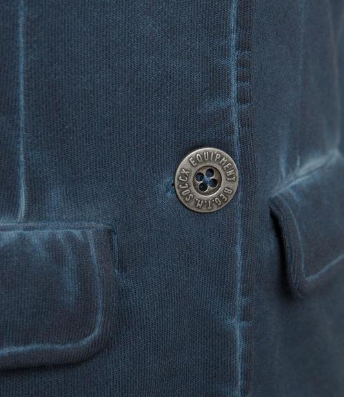 Tmavě modré sako s potiskem|XL - 4