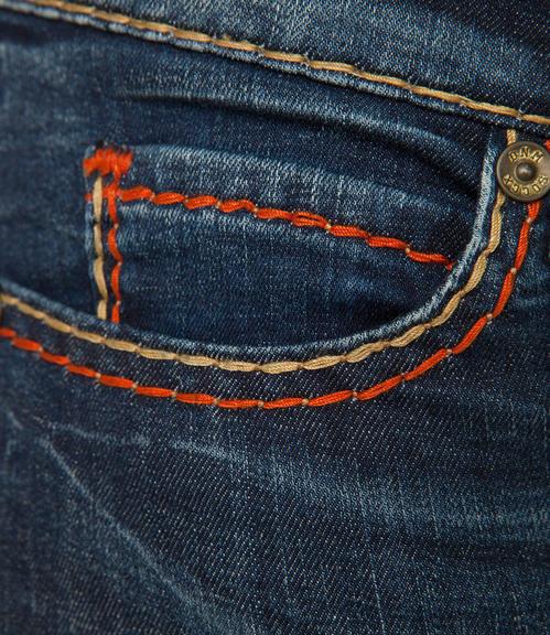 tmavě modré strečové džíny|30 - 4