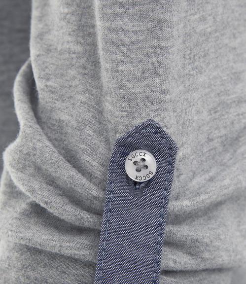 Tričko SPI-1710-3637 grey melange|XL - 4