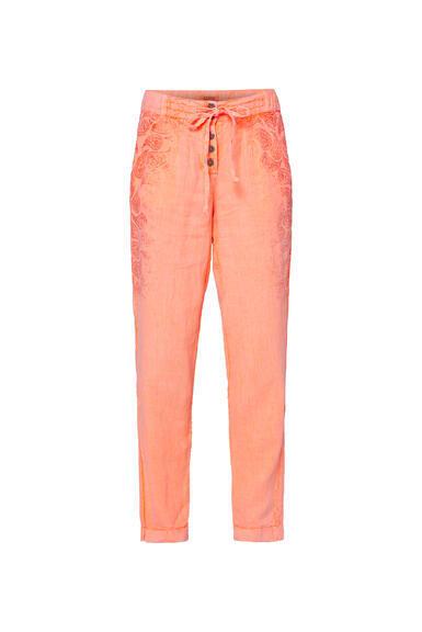 Plátěné kalhoty STO-2004-1853 desert beige/spicy orange|S - 4