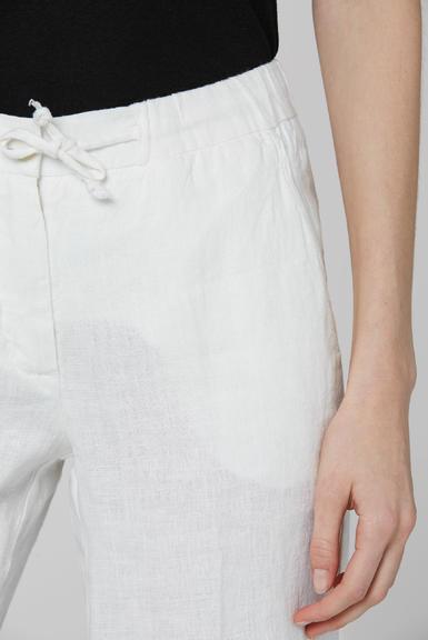 Lněné kalhoty SCU-2000-1389 Cotton White|S - 5