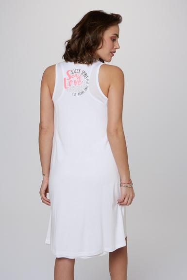 Dvouvrstvé šaty SCU-2000-7526 opticwhite|S - 5