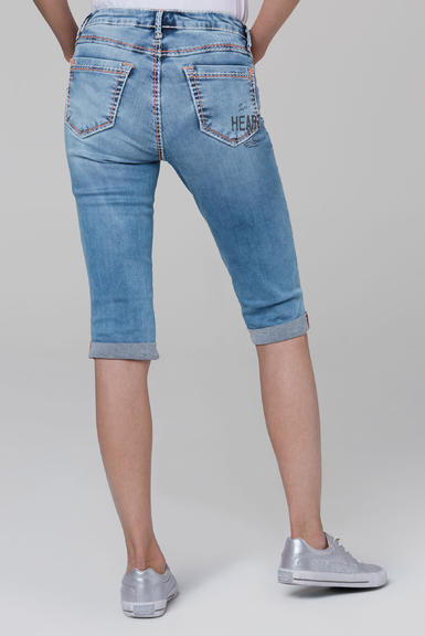 Džínové 3/4 kalhoty SDU-2000-1870 medium blue|29 - 5