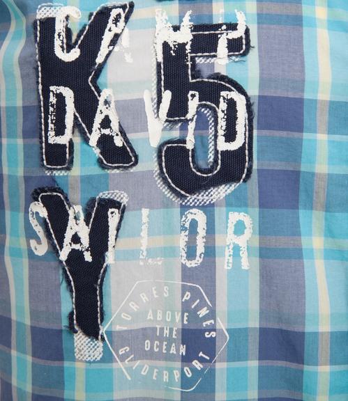 košile chec CCB-1804-5419 old aqua|XL - 5