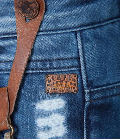 Džínové kalhoty s kšandami 34 - 5