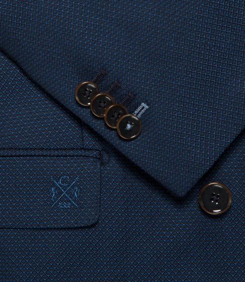 Tmavě modré dvouřadé sako|50 - 5