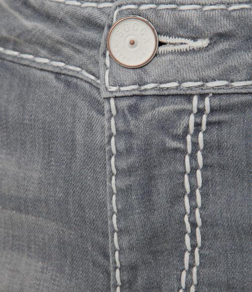 Světlé džíny se sepraným efektem|31 - 5