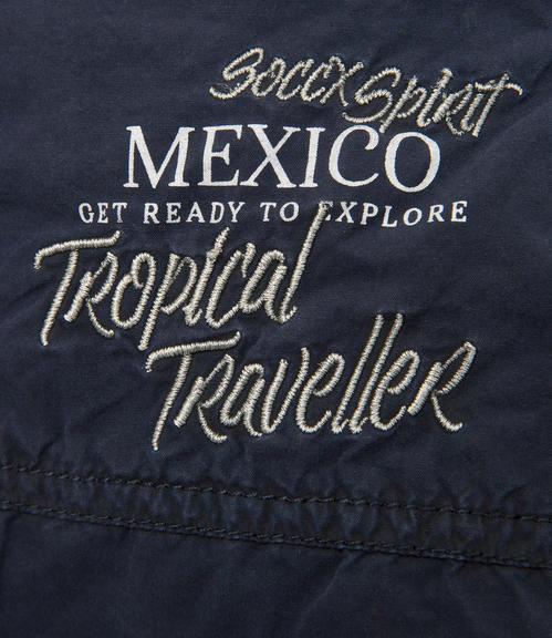 tmavě modré kraťasy Soccx Tropical Traveler|L - 5