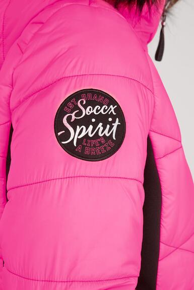 Kabát SP2155-2299-33 knockout pink|XS - 6
