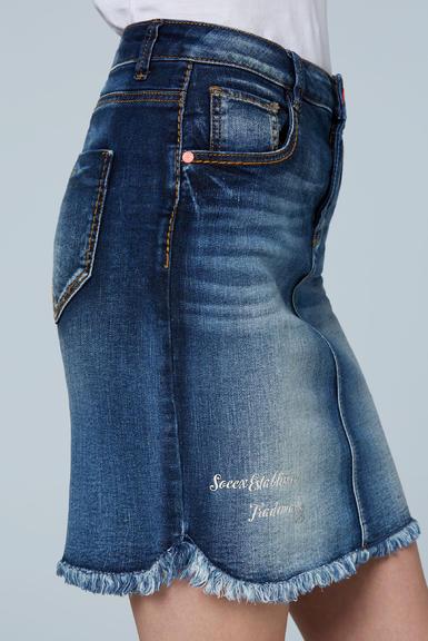 Džínová sukně SDU-2000-7838 dark blue used|M - 6