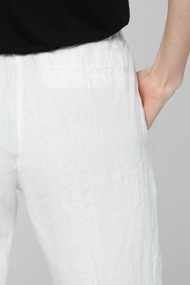 Lněné kalhoty SCU-2000-1389 Cotton White|S - 6
