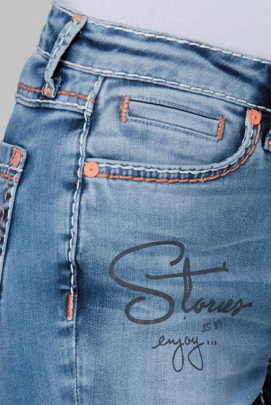 Džínové 3/4 kalhoty SDU-2000-1870 medium blue|28 - 6