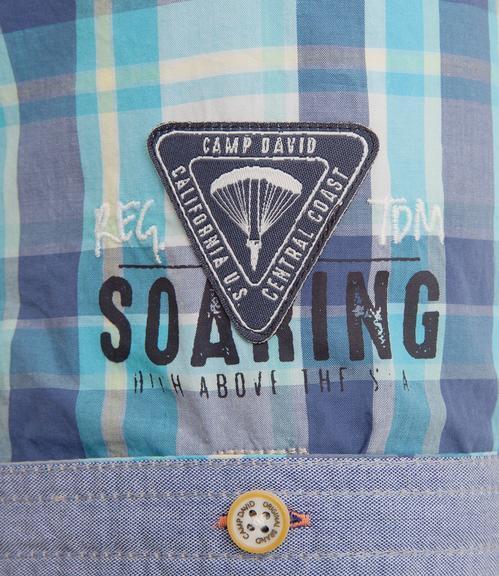 košile chec CCB-1804-5419 old aqua|XL - 6