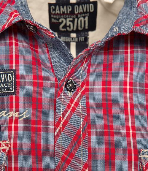 Košile CCB-1809-5777 royal red|M - 6