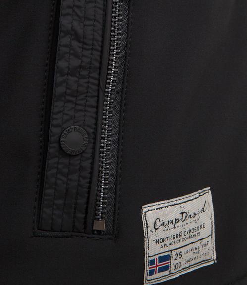 černá softshellová bunda|M - 6