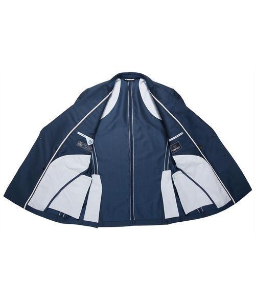 Tmavě modré dvouřadé sako|50 - 6