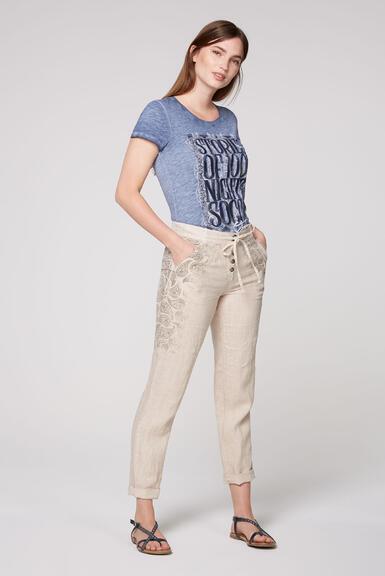 Plátěné kalhoty STO-2004-1853 desert beige/spicy orange|S - 7