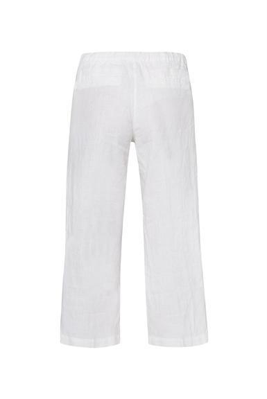 Lněné kalhoty SCU-2000-1389 Cotton White|S - 7