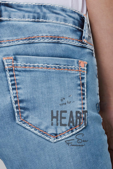 Džínové 3/4 kalhoty SDU-2000-1870 medium blue|28 - 7