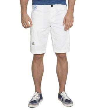 Bílé kraťasy s kapsami na zip